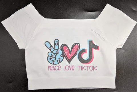 Kids Peace, Love, Tik Tok Crop Top