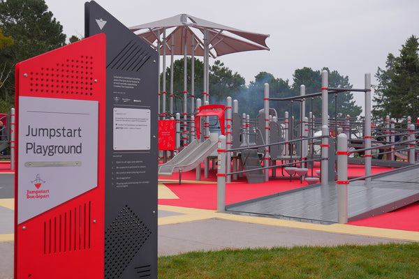 Canadian Tire Jumpstart Playground made from crumb rubber