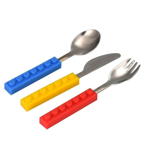 Cute Stainless Steel Lego Cutlery