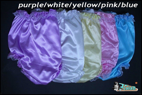 10 Pieces Adult Sissy Satin Frilly Panties - Adult Diapers Delivered Free