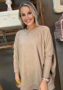 Cherish Everyday Brushed Pullover Taupe