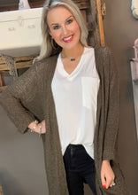 Load image into Gallery viewer, Lightweight Sweater Cardigan Olive