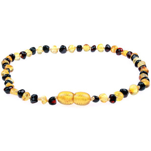 Powell's Owls Amber Teething Necklace Honey/Cherry Mix