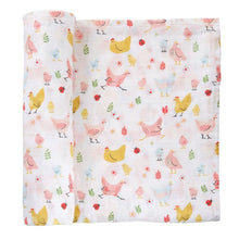 Load image into Gallery viewer, Mud Pie Chicken Muslin Swaddle
