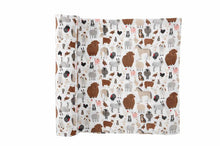Load image into Gallery viewer, Mud Pie Fall Animal Muslin Swaddle