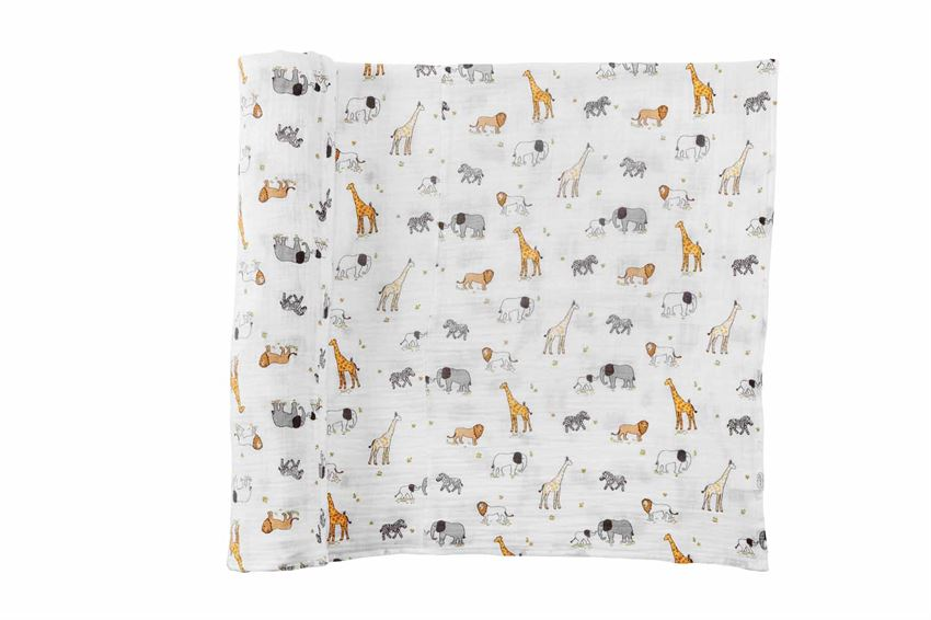 MP Muslin Swaddle Safari