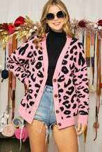 Load image into Gallery viewer, RC- Pink & Black Leopard Cardigan
