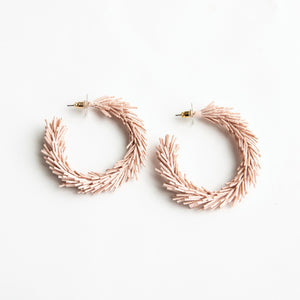 MM Kennedy Fringe Hoops Blush