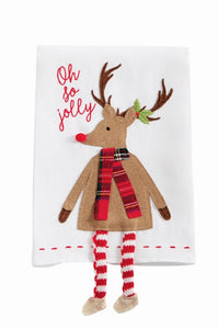 MP Christmas Reindeer Dangle Leg Hand Towel