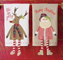 Load image into Gallery viewer, MP Christmas Reindeer Dangle Leg Hand Towel