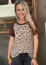 Load image into Gallery viewer, White Birch Cheetah/Leopard Mix Top