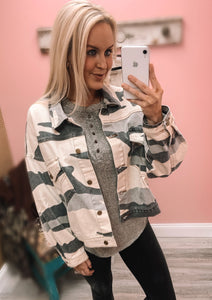 RC- Black/Grey Camo Jacket