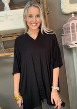 Load image into Gallery viewer, Cherish Oversized Poncho Top Black