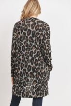 Load image into Gallery viewer, Heather & Brown Leopard Cardigan