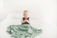 Load image into Gallery viewer, Copper Pearl Poe Knit Swaddle Blanket
