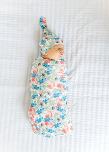 Copper Pearl Wren Knit Swaddle Blanket