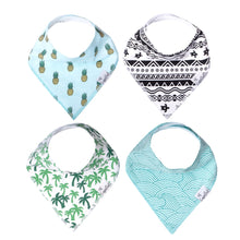 Load image into Gallery viewer, Copper Pearl Maui Bandana Bib Set (4-Pack)