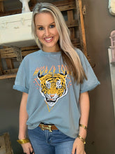 Load image into Gallery viewer, Lt Blue Tiger World Tour Graphic Tee
