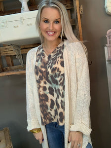 Lightweight Sweater Cardigan Ivory