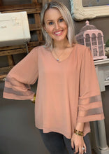 Load image into Gallery viewer, Jodifl Rose Taupe Blouse