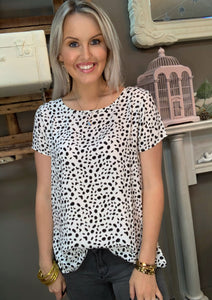 Mary Square Bethany Top Wild Dalmatian Top