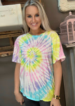 Load image into Gallery viewer, BB Multi Tie Dye Top Lemon Pastel