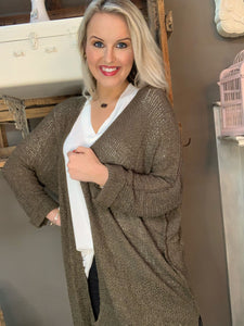 Lightweight Sweater Cardigan Olive