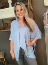 Load image into Gallery viewer, Cherish Oversize Poncho Top Dusty Blue