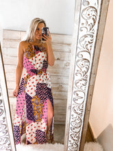 Load image into Gallery viewer, Spring Fling Patchwork Double Slit Maxi
