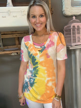 Load image into Gallery viewer, Bibi Tie Dye Neck Top