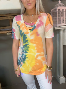 Bibi Tie Dye Neck Top