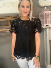 Load image into Gallery viewer, Jodifl Little Black Lace Top