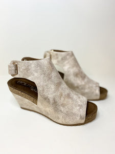 Corky's Calypso Gold Metallic Wedge