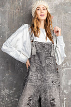 Load image into Gallery viewer, RC- Sandforized Overalls Washed Black Denim