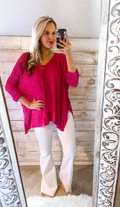 Hot Pink Spring Sweater