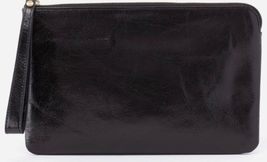 HOBO Wayfare Wristlet Clutch Black