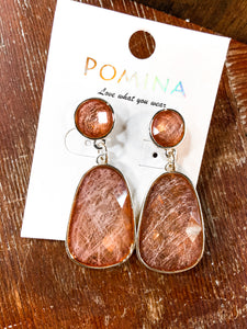 SL Rose Stone Earrings