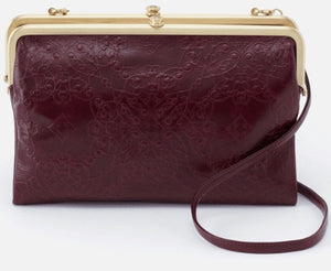HOBO Leanne Crossbody Embossed Deep Plum