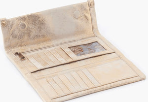 HOBO Fable Wallet Gold Distressed