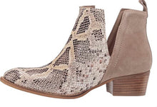 Load image into Gallery viewer, Diba True Snakeskin Short Side Bootie Nude Beige