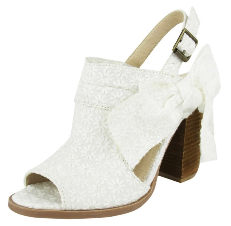 Not Rated Haida Heel White