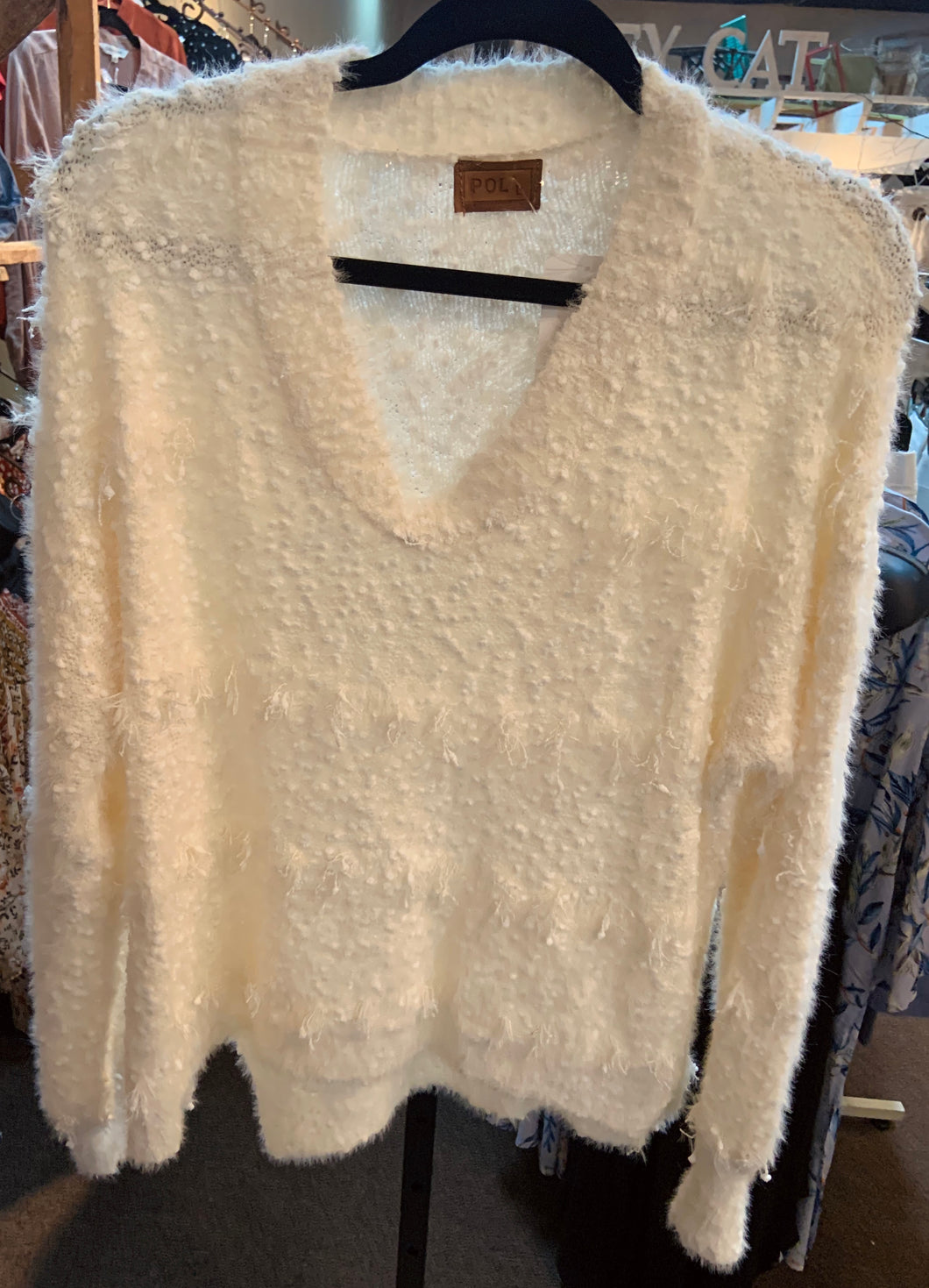 POL V-neck Cream Sweater