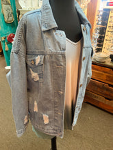 Load image into Gallery viewer, Trend Notes Destroyed Denim Jacket