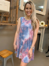 Load image into Gallery viewer, Umgee Tye Dye Print Swing Dress