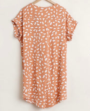 Load image into Gallery viewer, Umgee Apricot V-neck Dalmatian Print Dress