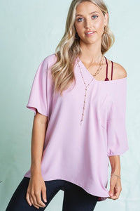 SL- V-neck LaMiel Top Lilac