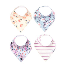 Load image into Gallery viewer, Copper Pearl Morgan Baby Bandana Bib Set (4-Pack)