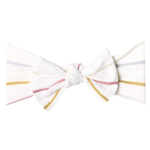 Copper Pearl Piper Knit Headband Bow