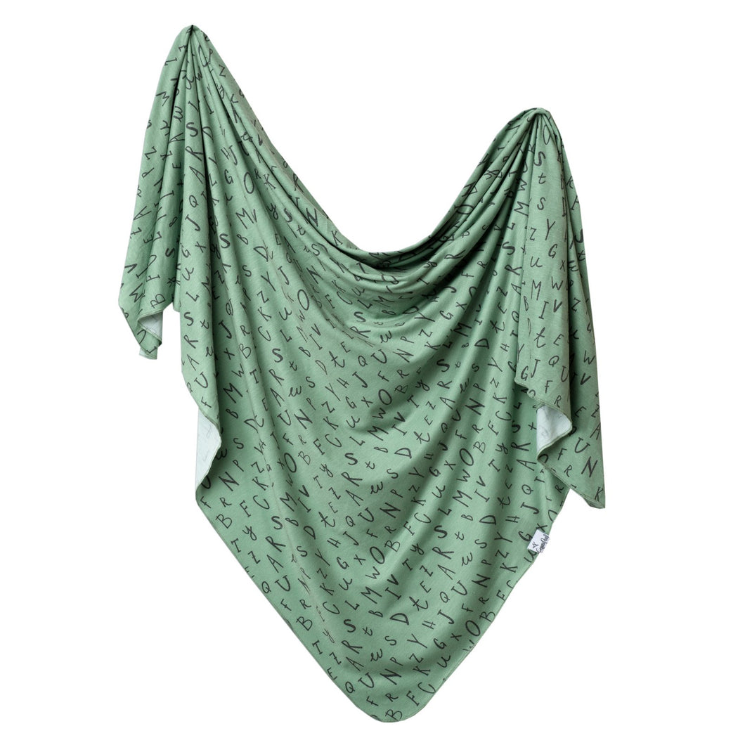 Copper Pearl Poe Knit Swaddle Blanket
