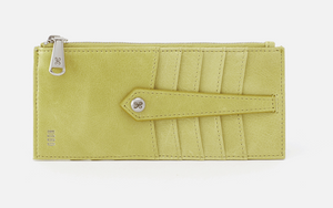 HOBO Linn Credit Card Wallet Lemongrass